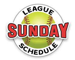 SSIDL Indoor Fastpitch Softball Sunday League Schedule